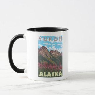 Fireweed & Mountains - Yukon, Alaska Mug
