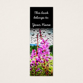 Fireweed With Water Texture Mini Business Card
