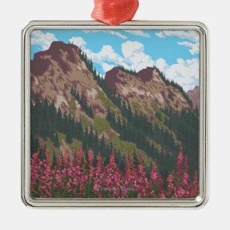 Fireweed y montañas - el Yukón, Alaska Ornamento Para Arbol De Navidad