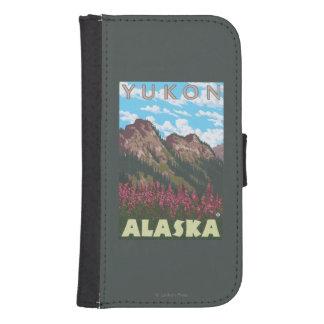 Fireweed y montañas - el Yukón, Alaska Cartera Para Galaxy S4