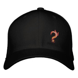 FireWhat Fit Hat with Black on Black logo Embroidered Hat
