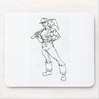 firewoman72 alfombrilla de ratones