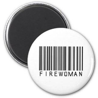 Firewoman Bar Code Magnet