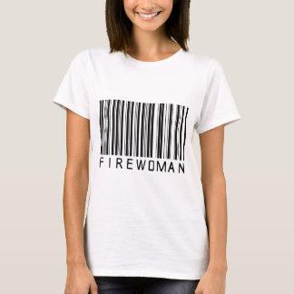 Firewoman Bar Code T-Shirt