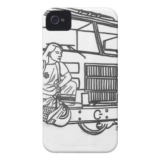 Firewoman iPhone 4 Covers