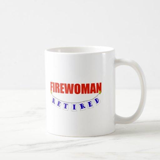 FIREWOMAN JUBILADO TAZA DE CAFÉ