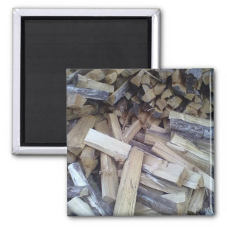 Firewood 2 Inch Square Magnet