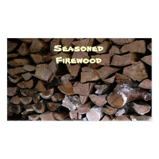 Firewood double sided standard business cards pack of 100 for Firewood business cards