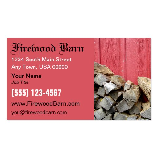 Firewood business card zazzle for Firewood business cards