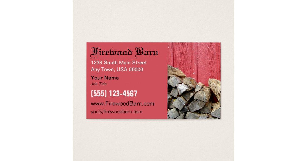 Firewood Business Card   Zazzle.com