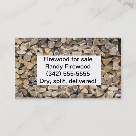 Firewood business card zazzle firewood business card colourmoves