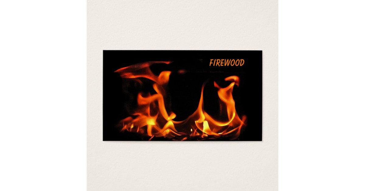 Firewood Business Card | Zazzle.com