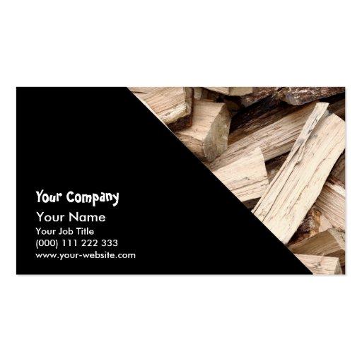 Firewood Business Card Template