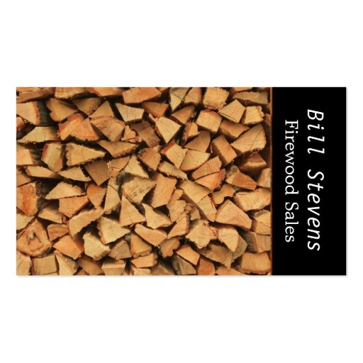 Firewood Business Card Templates