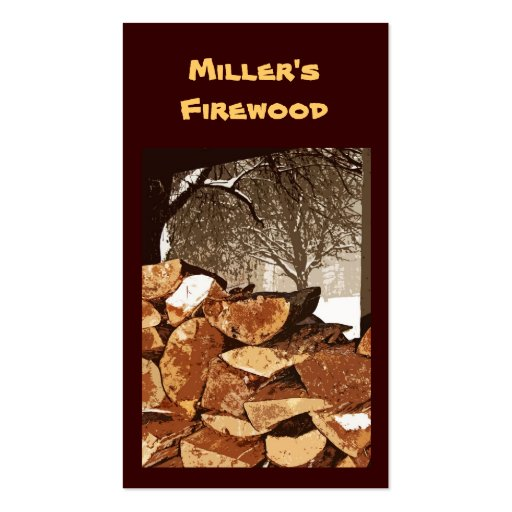 Firewood business cards zazzle for Firewood business cards