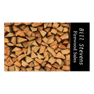 Firewood Double-Sided Standard Business Cards (Pack Of 100)