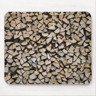Firewood Mouse Pad