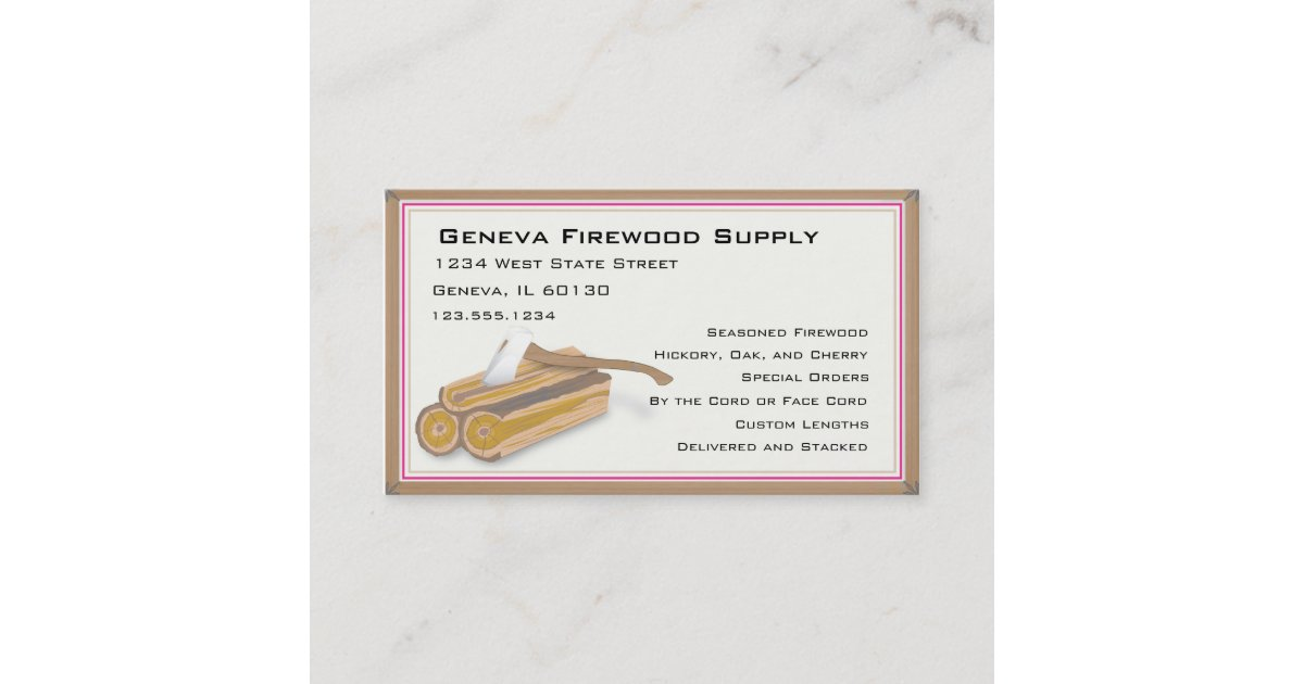 Firewood or tree service business card | Zazzle.com