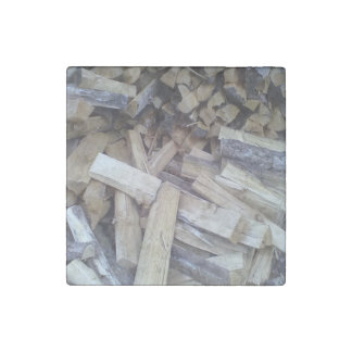 Firewood Stone Magnet