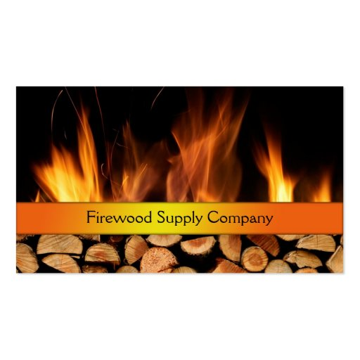 Firewood supply company business card zazzle for Firewood business cards