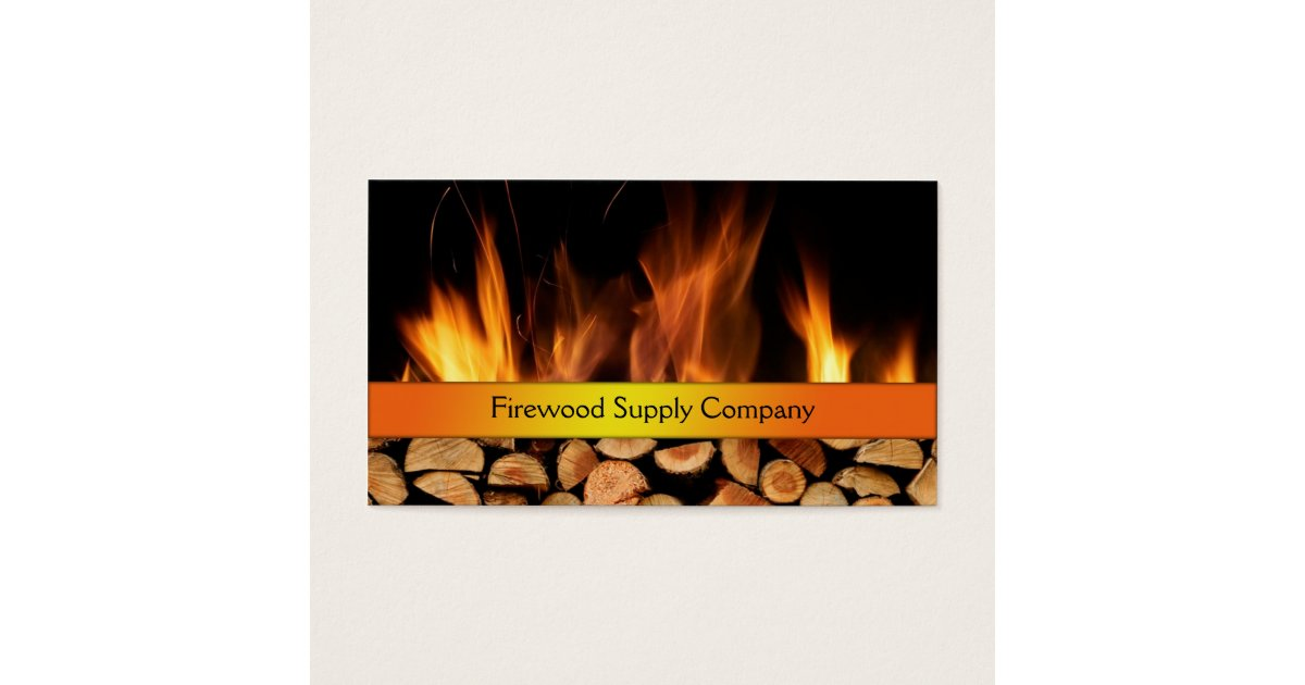 Firewood Supply Company Business Card   Zazzle.com