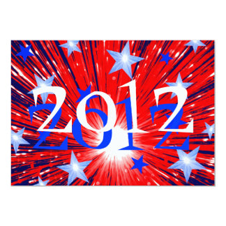 "Firework '2012' party  invitation 5"" x 7"" invitation card"