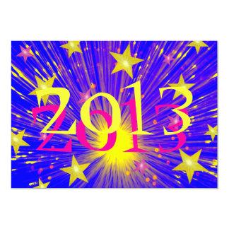 "Firework '2013' party  invitation 5"" x 7"" invitation card"