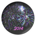 firework 2014 party plate