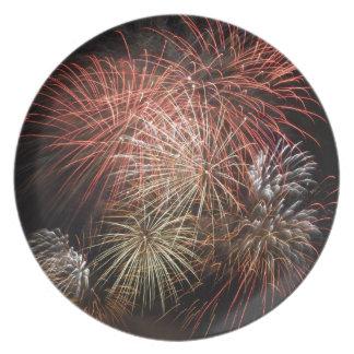 Firework 20 dinner plate