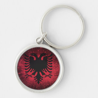 Firework; Albania Flag Keychain