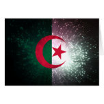 Firework; Algeria Flag Stationery Note Card
