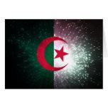 Firework; Algeria Flag Stationery Note Card