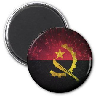 Firework; Angola Flag 2 Inch Round Magnet
