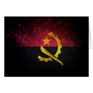 Firework; Angola Flag Stationery Note Card
