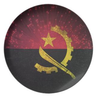 Firework; Angola Flag Dinner Plate