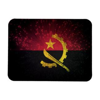 Firework; Angola Flag Rectangular Photo Magnet