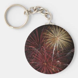 Firework Basic Round Button Keychain