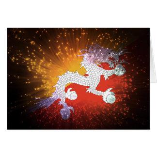 Firework; Bhutan Flag Card