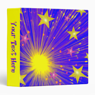 Firework binder 'Your Text' yellow
