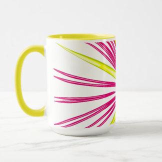 Firework Burst in Pink & Yellow Mug