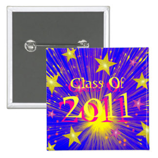 Firework 'Class of 2011' button square