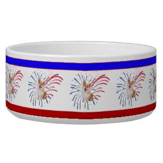 Firework Corgis Dog Food Bowls