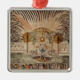 Firework Display in the Place Louis XV Metal Ornament