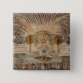 Firework Display in the Place Louis XV Pinback Button