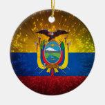 Firework; Ecuador Flag Christmas Tree Ornament