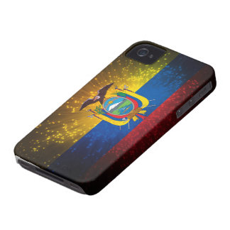 Firework; Ecuador Flag iPhone 4 Case-Mate Case