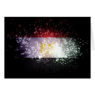 Firework; Egypt Flag Card