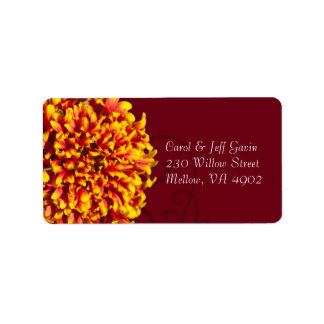 Firework Flower with Ornate Garden Pattern Personalized Address Labels