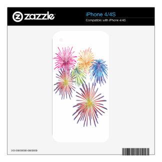 Firework Fun Colorful Modern Beautiful iPhone 4S Decal