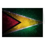 Firework; Guyana Flag Card